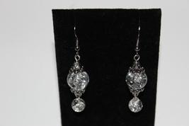 Crystal glass dangle earrings - $9.00