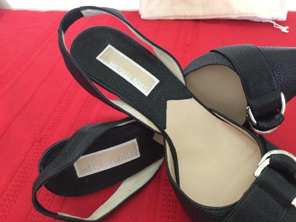 Michael Kors  Womens High Heel Slingback Black Leather  Sz 7M image 6