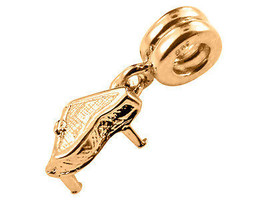 10K Yellow GOLD Handmade Piano Dangle Charm Fits EUROPEAN BRACELETS - $83.22