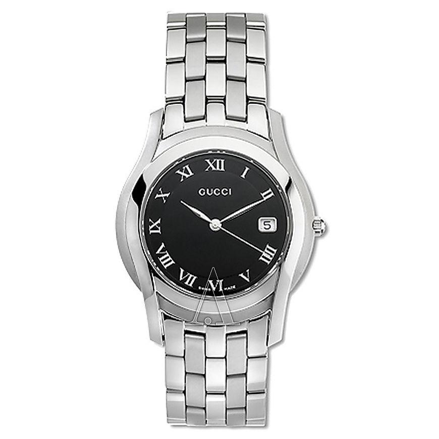 c14fe1138d4 GUCCI Date Black Dial QZ quartz watch 5500L and 50 similar items. 57