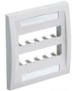 Panduit CFPE10IW-26 Mini-Com Faceplate Double Gang 10 Module Off White NEW - $11.88