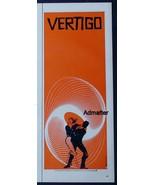 1958 VERTIGO HITCHCOCK MOVIE AD POSTER NEAR MINT! SAUL BASS DESIGN RARE ... - $120.93