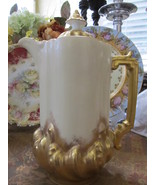 PH Leonard Export Limoges, France Antique Gilded Baroque Chocolate Pot - $435.00