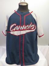 Vancouver Canucks Baseball Jersey (VTG) - Script Front - Men's Large  - $49.00