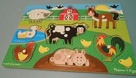 Melissa and Doug farm animals peg puzzle - $8.66