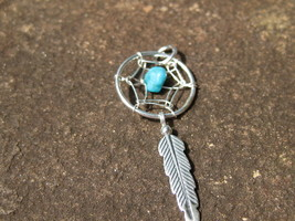Haunted Spell Cast Dream Catcher charm pendant protect dreams and good luck - $40.00