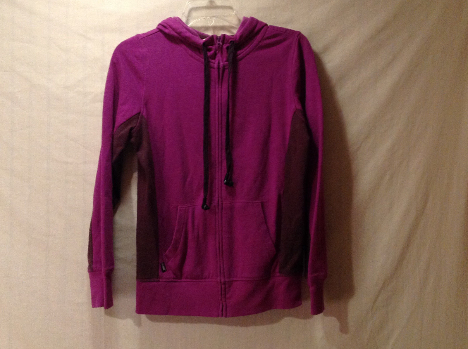 Old Navy Women's Size S Hoodie Sweatshirt Purple w/ Front Zipper Contrast Sides