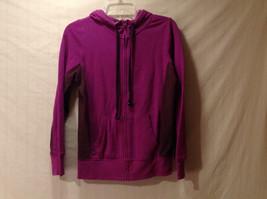 Old Navy Women's Size S Hoodie Sweatshirt Purple w/ Front Zipper Contrast Sides