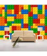 FREE SHIPPING Lego Bricks Wallpaper for Walls Kids Room Wallpaper Mural ... - $52.95