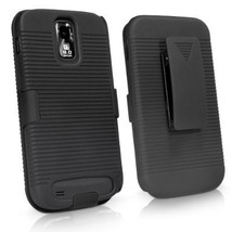 Samsung T989 (Galaxy S2) after market Black rubberized hard shell case  - $8.49