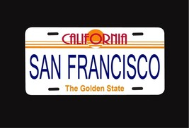 Custom License Plate California San Francisco Car Auto Tag Sign Presonal... - $11.74