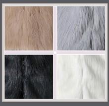 Men's Long Sleeve Hooded Front Zip Up Long Hair Faux Fur Coat Jacket w/ Pockets  image 3