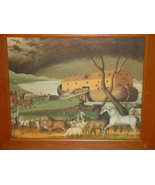 Noah's Ark Animals Getting on The ARK Wal Art  Print In Frame - $47.00