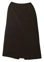 Womens Black STUDIO C Skirt 10 100% Polyester - $14.73