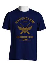 Captain Old Ravenclaw Quidditch Team Men Tee S To 3 Xl Navy - $20.00