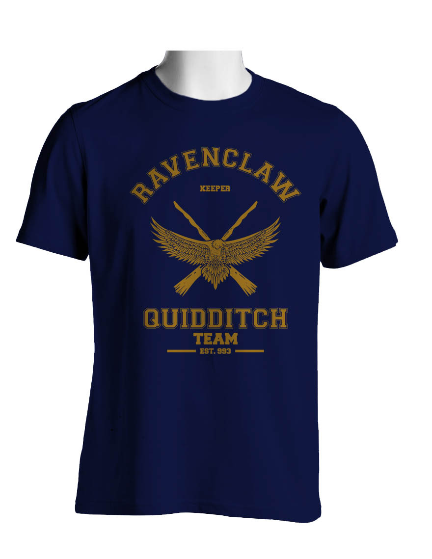 KEEPER Old Ravenclaw Quidditch team Men Tee S to 3XL NAVY - $20.00
