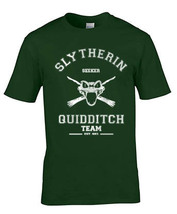 Seeker Old Slytherin Quidditch Team Men Tee S To 3 Xl Forest Green - $20.00