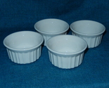 4 corningware french white stoneware custard dish ramekins euc  1  thumb155 crop