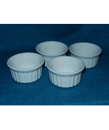 4 CorningWare French White Stoneware Custard Dish Ramekins EUC - $24.99