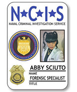 1 NAME BADGE HALLOWEEN COSTUME ABBY SCIUTO FORENSIC AGENT NCIS SAFETY PI... - $14.84