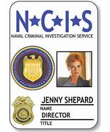 NAME BADGE HALLOWEEN COSTUME JENNY SHEPARD DIRECTOR NCIS SAFETY PIN BACK - $14.84