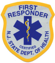 """New Jersey State Emt - First Responder Highly Reflective 2"""" X 2 1/2"""" Vinyl Decal - $4.94"""