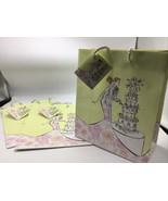 """Wedding Gift Bag Lot 3 Bride Groom Cutting Cake 8"""" x 10"""" Wrap Bridal Sho... - $12.59"""