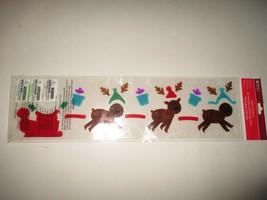 New Impact Innovations Reindeer Pulling Santa's Sleigh Gel Clings - $2.00