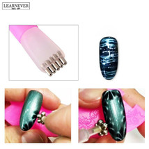Pink Color Nail Art Magnet Stick Cat Eyes Double Headed Magnet for Nail ... - $5.94