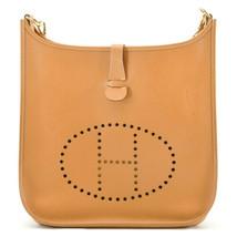 HERMES Evelyn GM Shoulder Bag Leather Brown Auth 9208 image 2