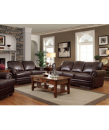 PRESTIGE - Traditional Living Room Furniture Brown Bonded Leather Sofa C... - $1,485.74