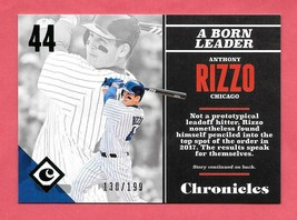 2017 Anthony Rizzo Panini Chronicles Green /199 - Chicago Cubs - $1.89