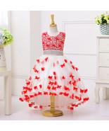 Lavender  Flowers Short Prom Party Dresses Girls Wedding Flower Girls Dr... - $48.99