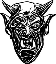 Devil Lucifer face clipart svg vector png jpg digital image printable ar... - $3.50