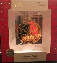 Hallmark Premium Marvel Spider Man Round Medal Christmas Tree Ornament S... - $12.86
