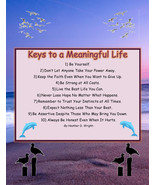 Keys to a Meaningful Life - Printable Inspirational Art Download - $0.99