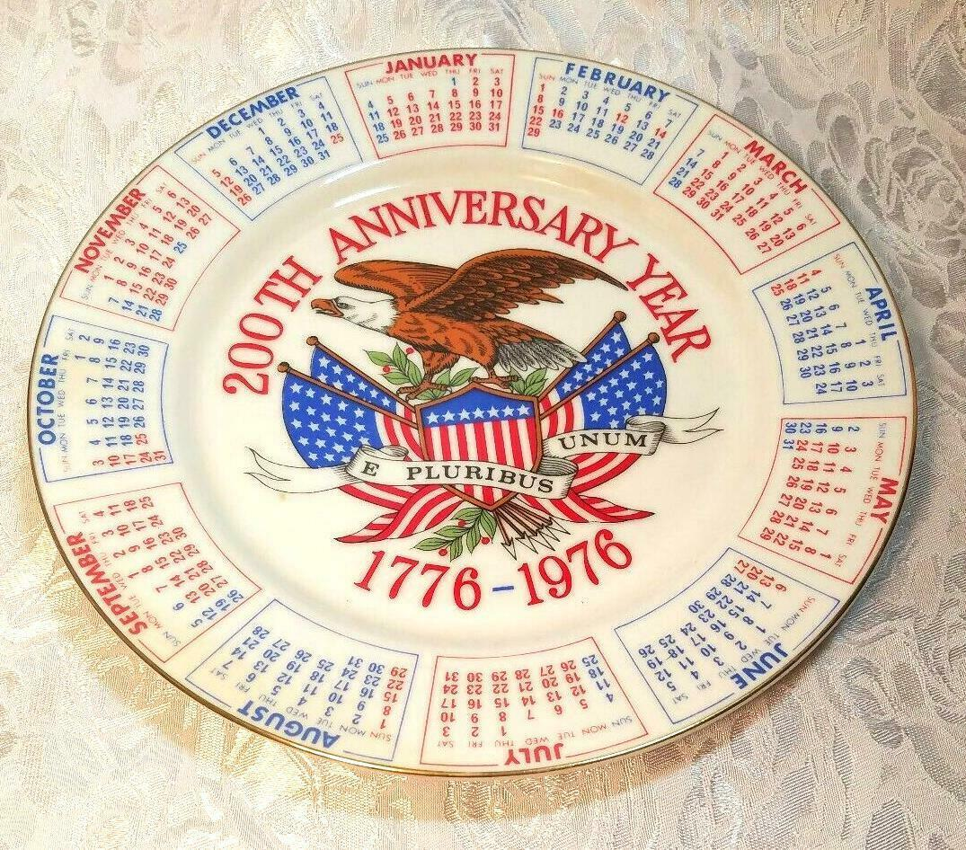 1975 Spencer Gifts. Inc. 200th Anniversary Year 1776-1976 Commemorative Plate 9""