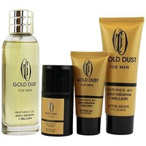 Inspired By Paco Rabanne 1 Million, Gold Dust 4 piece Men's Fragrance Gi... - $24.99