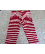 Faded Glory Red And Pink Striped Pants 12 Mos - $2.99