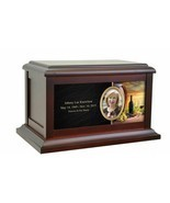 Large/Adult 200 Cubic Inch Napa Valley Life Wood Photo Cremation Urn for... - $209.99