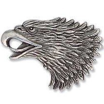 Freedom Left Eagle Head Antique Silver Plate Screwback Concho Memorial Day - £2.13 GBP