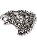 Freedom Left Eagle Head Antique Silver Plate Screwback Concho Memorial Day - £2.10 GBP