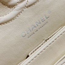 SALE* AUTHENTIC Chanel Quilted Lambskin Classic Medium Beige Double Flap Bag SHW image 11