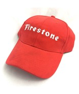 Firestone Tires Hat Adjustable Strapback Mens Baseball Cap Hat One Size Red - $19.75