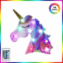 Obrecis LED Unicorn Marquee Signs Color Changing, Remote Control Light Up Rainbo