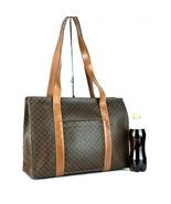 Auth CELINE Macadam PVC Canvas & Brown Leather Tote Shoulder Bag Purse I... - $147.51