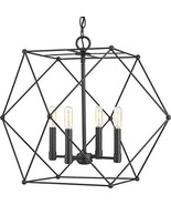 Progress Lighting P500083-031 Spatial Four-Light Pendant, Black - $332.20