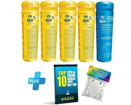 HotTubClub Spa Frog 5 Pack Replacement Floater Cartridges 4 Bromine, 1 Mineral