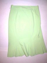 New Womens Designer Irie France Skirt Small S 25 Light Pale Green NWT Fit Flare - $173.25