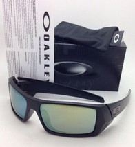New OAKLEY Sunglasses GASCAN 26-245 60-15 Matte Black Frame with Emerald... - $140.52